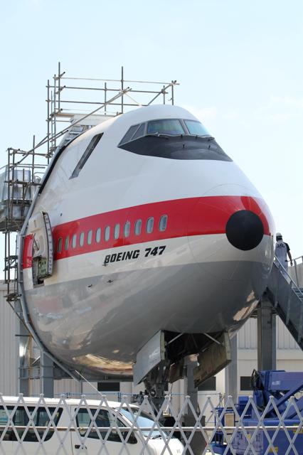 成田の航空科学博物館のBoeing 747